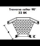 Traversa coltar 90GR pentru pat metalic 100 mm