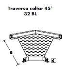 TRAVERSA COLTAR 45GR PENTRU PAT METALIC 100 MM