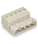 1-conductor male connector; 100% protected against mismating; 2.5 mm²; Pin spacing 7.5 mm; 3-pole; 2,50 mm²; light gray