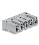 Plug for PCBs; angled; 5-pole; Cod. B; gray