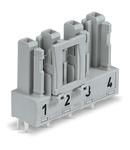 Socket for PCBs; straight; 4-pole; Cod. B; gray