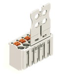 1-conductor female plug; Gripping plate; 1.5 mm²; Pin spacing 3.5 mm; 6-pole; 1,50 mm²; light gray