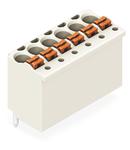 1-conductor THT female header; 1.0 mm Ø solder pin; straight; 1.5 mm²; Pin spacing 3.5 mm; 12-pole; 1,50 mm²; light gray