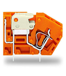Stackable PCB terminal block; with knife disconnect; 2.5 mm²; Pin spacing 5.08 mm; 1-pole; CAGE CLAMP®; 2,50 mm²; orange