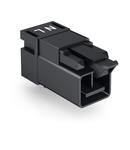 Plug for PCBs; angled; 2-pole; Cod. A; black