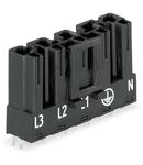 Plug for PCBs; straight; 5-pole; Cod. A; black