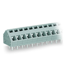 PCB terminal block; 2.5 mm²; Pin spacing 5/5.08 mm; 9-pole; CAGE CLAMP®; commoning option; 2,50 mm²; gray