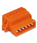 1-conductor male connector; clamping collar; 2.5 mm²; Pin spacing 5.08 mm; 3-pole; 2,50 mm²; orange
