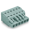 1-conductor female plug; 2.5 mm²; Pin spacing 5 mm; 11-pole; 2,50 mm²; gray