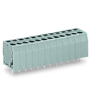 PCB terminal block; 2.5 mm²; Pin spacing 5 mm; 9-pole; CAGE CLAMP®; 2,50 mm²; gray