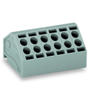 2-conductor PCB terminal block; 1.5 mm²; Pin spacing 5 mm; 8-pole; Push-in CAGE CLAMP®; 1,50 mm²; gray