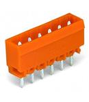 THT male header; 1.0 x 1.0 mm solder pin; straight; Pin spacing 5.08 mm; 17-pole; orange