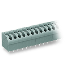 PCB terminal block; push-button; 1.5 mm²; Pin spacing 5 mm; 9-pole; Push-in CAGE CLAMP®; 1,50 mm²; gray
