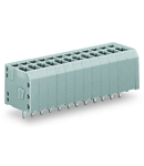 PCB terminal block; 1.5 mm²; Pin spacing 3.5 mm; 2-pole; CAGE CLAMP®; 1,50 mm²; gray