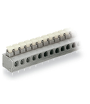 PCB terminal block; push-button; 1.5 mm²; Pin spacing 5/5.08 mm; 9-pole; Push-in CAGE CLAMP®; 1,50 mm²; gray