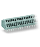 PCB terminal block; 0.5 mm²; Pin spacing 2.5 mm; 10-pole; CAGE CLAMP®; 0,50 mm²; gray