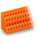 Double-deck PCB terminal block; 2.5 mm²; Pin spacing 5.08 mm; 2 x 12-pole; CAGE CLAMP®; 2,50 mm²; orange