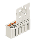 1-conductor female plug; Gripping plate; direct marking; 2.5 mm²; Pin spacing 5 mm; 2-pole; 2,50 mm²; light gray