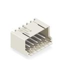 THT male header; 1.0 mm Ø solder pin; angled; Pin spacing 3.5 mm; 7-pole; light gray