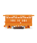Mounting carrier; 221 Series - 4 mm²; for DIN-35 rail mounting/screw mounting; orange
