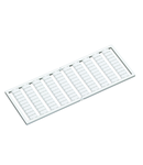 WSB marking card; as card; not stretchable; plain; snap-on type; white