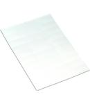 Cardboard signs; for laser printer; 9.5 x 25 mm; white