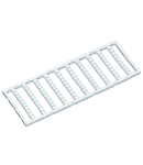 Mini-WSB marking card; as card; MARKED; 11 ... 20 (10x); not stretchable; Horizontal marking; snap-on type; white