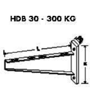Suport perete 300kg-600mm