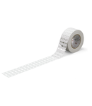 Cable tie marker; for TP printers; for use with cable ties; 25 x 10 mm; white