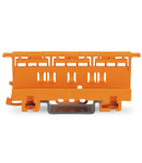 Mounting carrier; 221 Series - 6 mm²; for DIN-35 rail mounting/screw mounting; orange