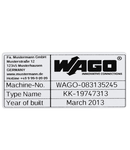 Type labels; 70 x 33 mm