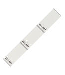 Self-laminating labels; for Smart Printer; 18 x 44 mm; white