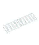 WMB marking card; as card; MARKED; 31 ... 40 (10x); not stretchable; Horizontal marking; snap-on type; white