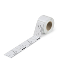 Type labels; 70 x 33 mm; white