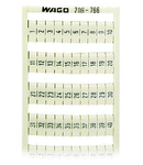 WSB marking card; as card; MARKED; 1 ... 50 (2x); not stretchable; Vertical marking; snap-on type; white