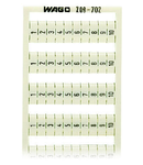 WSB marking card; as card; MARKED; 1 ... 10 (10x); not stretchable; Vertical marking; snap-on type; white