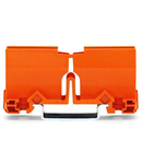 Mounting carrier; 773 Series - 2.5 mm² / 4 mm² / 6 mm²; for DIN-35 rail mounting/screw mounting; orange