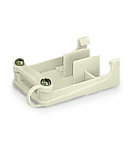 Strain relief support; for 272 Series; for multicore cables; 3-pole; with clamp; white