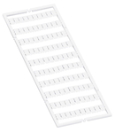 WMB marking card; as card; MARKED; 1 / 2 (50 each); stretchable 5 - 5.2 mm; Horizontal marking; snap-on type; white