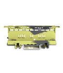 Mounting carrier; 221 Series - 6 mm²; for DIN-35 rail mounting/screw mounting; dark gray-yellow