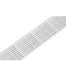 Marking strips; on reel; 3 mm wide; plain; Self-adhesive; white
