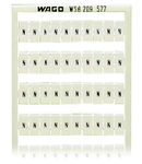 WSB marking card; as card; MARKED; N (100x); not stretchable; Horizontal marking; snap-on type; white