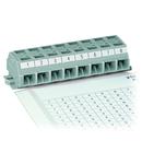 Marking strips; as a DIN A4 sheet; MARKED; 1 - 12 (40x); Strip width 6 mm; Strip length 182 mm; Horizontal marking; Self-adhesive; white