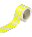 Labels; for TP printers; permanent adhesive; 8 x 20 mm; yellow