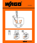 Stickers for operating instructions; for front-entry, miniature rail-mounted terminal blocks; 264 Series