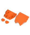 Strain relief housing; orange