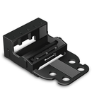 Mounting carrier; for 5-conductor terminal blocks; 221 Series - 4 mm²; with snap-in mounting foot for horizontal mounting; black