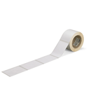 Labels; for TP printers; permanent adhesive; white