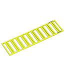 WMB marking card; as card; MARKED; k/l (each 50); stretchable 5 - 5.2 mm; Horizontal marking; snap-on type; yellow