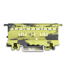 Mounting carrier; 221 Series - 4 mm²; for DIN-35 rail mounting/screw mounting; dark gray-yellow